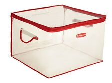 RUBBERMAID MEDIUM FLEX TOTE FLEXIBLE STORAGE 15 GALLON CLEAR 1802621 NEW IN BOX