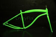 BEACH CRUISER URBAN FIXIE FRAME ALUMINUM 6061 T6 NEON GREEN-FREE BOTTOM BRACKET!
