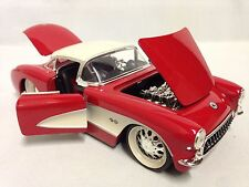 1957 Chevrolet Corvette, 1:24 Diecast, Collectible, Jada Toys, Glossy Red, DSP