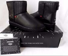UGG Star Wars Darth Vader Classic Mini Black Leather Boots Ltd Edition 9US NIB
