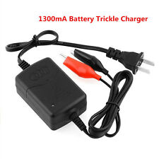 12V 1300mA Battery Trickle Charger Auto Car/Van/Motorcycle Tender Maintainer