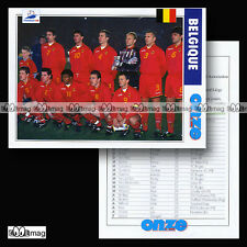 Equipe BELGIQUE BELGIUM Diables rouges World Cup FRANCE 98 Fiche Football 1998