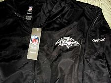 """BALTIMORE RAVENS EMBROIDERED LT.WT. """"REEBOK"""" LINED COACH JACKET MENS XL. NEW $60"""