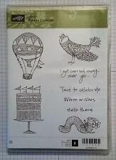 Stampin' Up! TIME TO CELEBRATE hot air balloon cake worm bird worm wishes