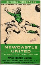 NEWCASTLE United v MANCHESTER United  Football Programme 31st October 1970