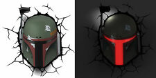 STAR WARS ~ BOBA FETT ~ Mask / Helmet / Head 3D FX Deco Wall LED Night Light