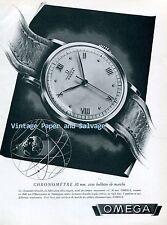 1945 Omega Chronometre 30 mm Watch Advert 1940s Vintage Swiss Print Ad Publicite