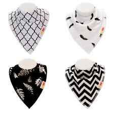 Baby Bandana Bibs For Infant Boys and Girls With Organic Cotton 4 Pack Drool Bib