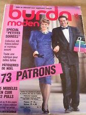 MAGAZINE BURDA MODEN VINTAGE MODE SPECIAL PETITES SOIREES  12 / 1986