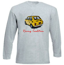 MALUCH POLISH FIAT 126 P RACING 1 - GREY LONG SLEEVED TSHIRT- ALL SIZES IN STOCK