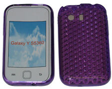 For Samsung Galaxy Young Y S5360 Pattern Gel Case Protector Cover Purple New UK