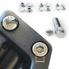 Chrome M6 Bolt Cap Cover Hex Plug Allen Key Motorcycle Sport Bike Cruiser x 5