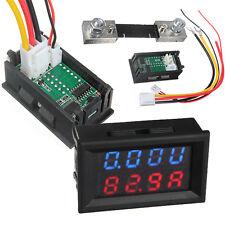 100V 100A DC Auto Digitale Voltometro Amperometro LED Amp Volt Metro & Shunt 12V