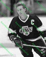 Wayne Gretzky LOS ANGELES KINGS 8 X 10 B&W GLOSSY PHOTO hockey #lagU8y4gs9