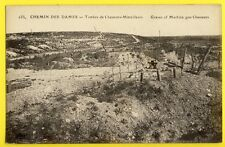 cpa WW1 CHEMIN des DAMES TOMBES de CHASSEURS MITRAILLEURS Graves of Soldiers