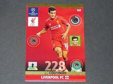 COUTINHO TO WATCH LIVERPOOL REDS UEFA PANINI FOOTBALL CHAMPIONS LEAGUE 2014 2015