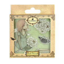 SANTORO'S Mirabelle Clear Stamp- Waiting great for cards and crafts