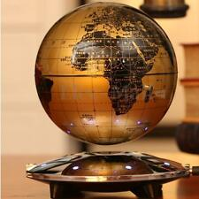 "6"" LED Magnetic Levitation Floating World Map Maglev Globe 8 LED Decor Light"
