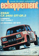 revue automobile: Echappement: N°127 mai 1979