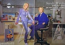 COUPURE DE PRESSE CLIPPING 2009 Sarah Marshall  (4 pages) & Michèle Morgan