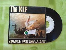 """VINILO SINGLE PROMO """" THE KLF """" AMERICA: WHAT TIME IS LOVE?"""