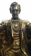 NEW Seated Abraham Lincoln President Statue Sculpture Figurine FAST SHIPPING