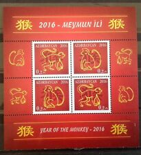 Azerbaijan - Postfris / MNH - Sheet Year of the Monkey 2016