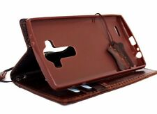 Genuine Leather hard case for lg g4 Credit Cards slots id Window Slim design
