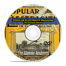 Popular Electricity Magazine, 72 Vintage Issues from 1908-1914, PDF CD DVD E27