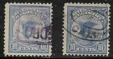 U.S. USED F1       Two Singles  as shown      (R6059)