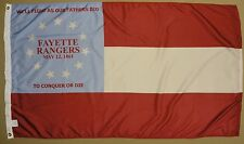 Fayette Rangers Co. F 13th GA Inf Indoor Outdoor Historical Dyed Nylon Flag 3X5'