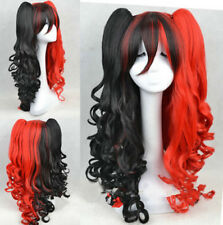 Female fashion Wig long Black and red curly hair cosplay party synthetic wigs