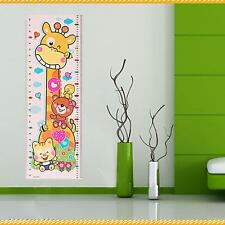 Practical Giraffe Pattern Kids Growth Height Measurement Chart Wall Sticker