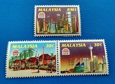 1994 Malaysia 100 Years of Electricity 3v Mint NH (Se-tenant perforation folded)