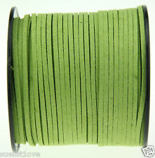 new 10ya 3mm green Suede Leather String Jewelry Making Thread Cords hot