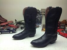 TONY LAMA USA BLACK LEATHER WESTERN COWBOY DANCE RANCH BOOTS 8M