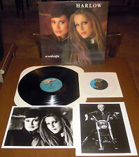 "LP HARLOW At midnight (Graf 83 USA) + bonus 7"" + 2 promo hq photos disco soul M!"