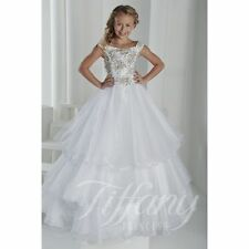 White Holy Communion Brithday Party Dance Little Girls Pageant Flower Girl Dress