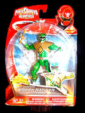 "POWER Rangers Super Megaforce Mighty Morphin VERDE 5"" Ranger NUOVO RARO"