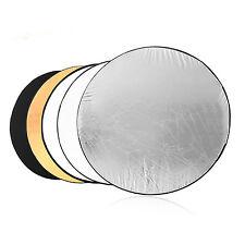 "5 in 1 Handheld Portable Photo Reflector Light Multi Collapsible Studio 60cm 24"""