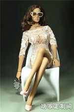 "Custom 1:6 Female Sexy Socialite Evening Dress F 12"" Phicen Large Bust Figure"
