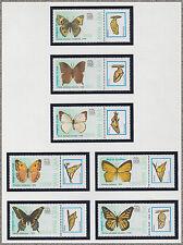 """VIETNAM N°949/955** PAPILLONS """"INDIA 89"""", 1989 Vietnam 1924-1930 Butterflies MNH"""