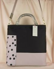Radley Cadnam Black and Beige Nylon Medium to Large Multiway Cross Body Bag New