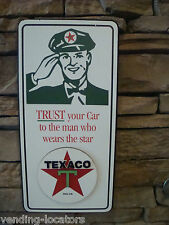 Texaco Gas Station Sign, Nostalgic Looking Service Oil Station Retro Wood Sign