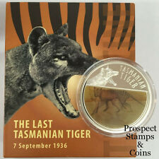 2011 The Last Tasmanian Tiger Lenticular Moving Silver Proof Coin