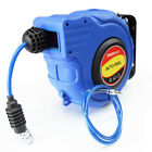 18m Retractable Auto Rewind Air Hose Reel 300PSI + Wall Mount + Nitto Fitting