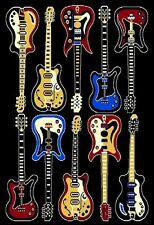 5' X 8' MODERN TEN ELECTRIC GUITARS ROCK AND ROLL MUSIC THEME AREA RUG