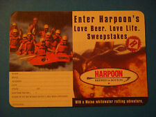Beer Bar Coaster ~ HARPOON Brewery Maine Whitewater Rafting Sweepstakes; VERMONT