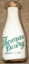 Thomas Dairy - Pikeville, KY Kentucky Pyro Pint Milk Bottle TRPP