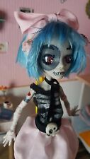OOAK monster high  Custom Repaint zombirella elrubius virtual hero